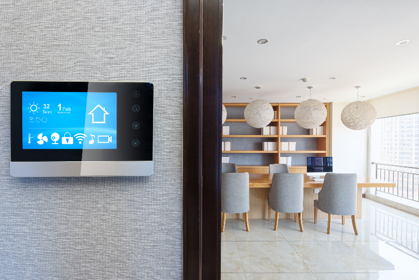 smart screen with modern meeting room