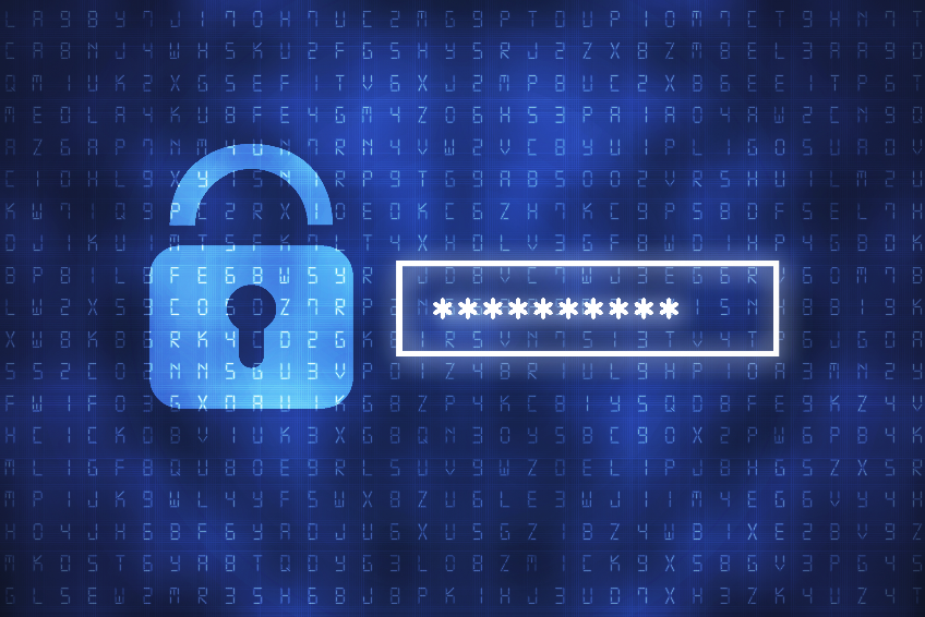 Cyber security concept: input password